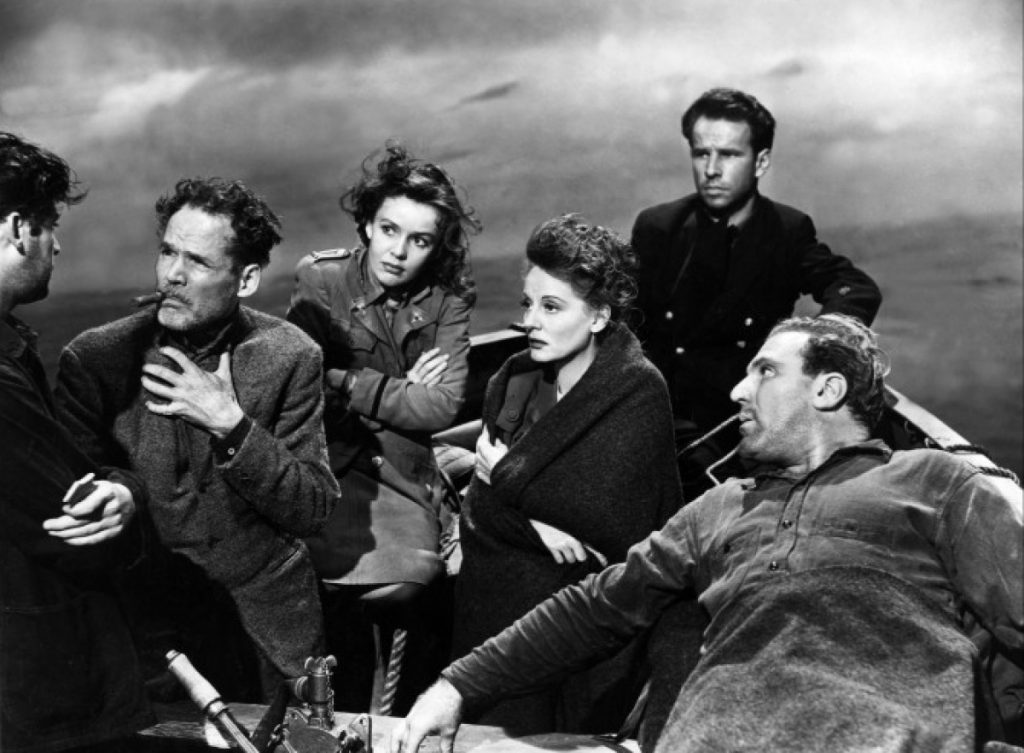 Still from Alfred Hitchcock's Lifeboat, 1944